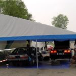 Pictures of Ed Hosni awning , two cars fit side by side onder a 20 wide.