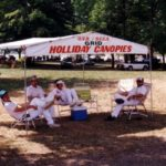 Mid Ohio Grid Workers Between Races Under A Canopy