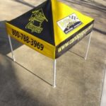 Choose your colors, and graphics on our custom built pop-up canopies