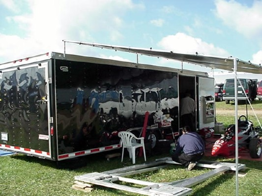 Aluminum Frame Awnings Enclosed Trailer